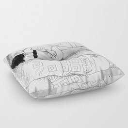 asc 547 - My New Year's resolutions - August Floor Pillow