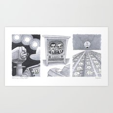What are you watching? Art Print