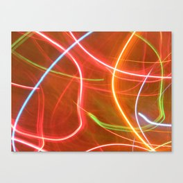 Christmas lights. Canvas Print