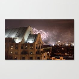 Fireworks Over Copley Canvas Print