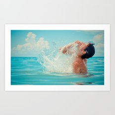 The splash of life Art Print