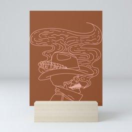 Love or Die Tryin' - Cowhand - Rust & Peach Mini Art Print
