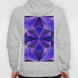 Art crystal blue and violet Hoody