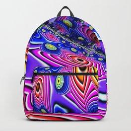 Blue Eyes on Pink Fractal by Amanda Martinson Backpack