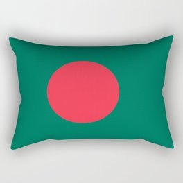 Flag of Bangladesh, Authentic color & scale Rectangular Pillow