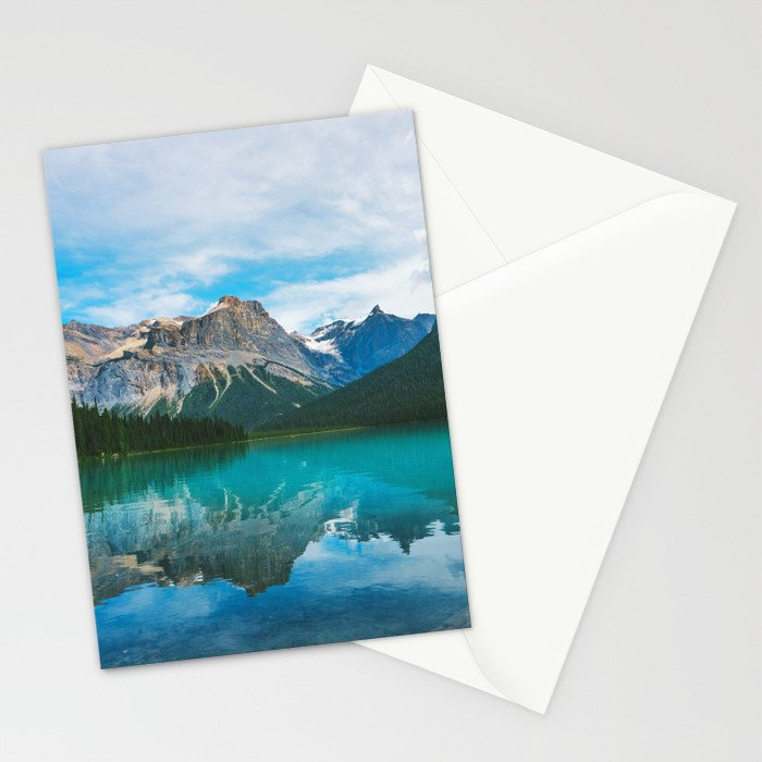 The Mountains and Blue Water - Nature Photography Stationery Cards