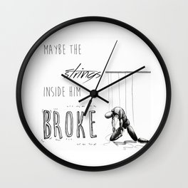 Paper Towns - strings Wall Clock