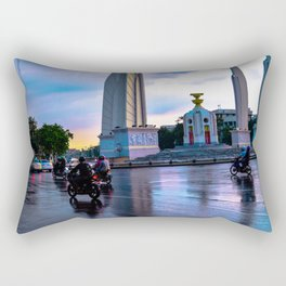 Motorbikes in South East Asia Rectangular Pillow
