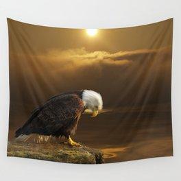 Gratitude - Bald Eagle At Prayer Wall Tapestry