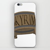skyrim iPhone & iPod Skins featuring SKYRIM: BUCKET by MDRMDRMDR