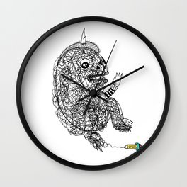 A Doodle Lives Inside of ME.  Wall Clock