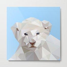 white lion cub Metal Print