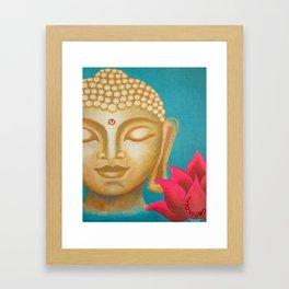 Buddha & Lotus 11 Framed Art Print