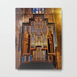 Organ Metal Print