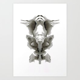 Rorschach Fish Art Print