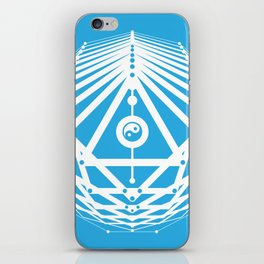 Radiant Abundance (cyan-white) iPhone Skin