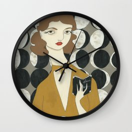 Phases of the Moon girl Wall Clock