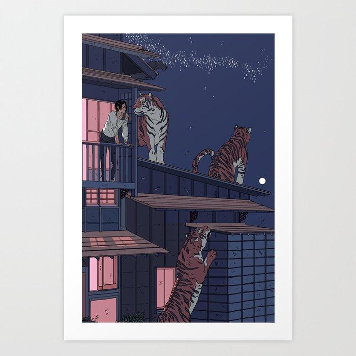 Tiger Playhouse Art Print