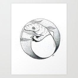 Baby Komodo Art Print