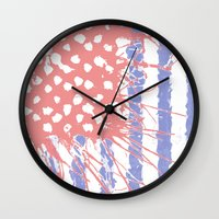 introvert Wall Clocks featuring DRENCH.american introvert by instantgaram