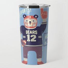 American Football Bear Travel Mug