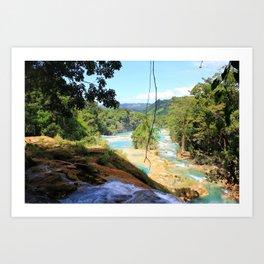 Agua Azul Art Print