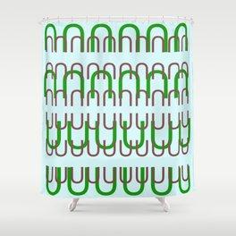 mod paper clip Shower Curtain
