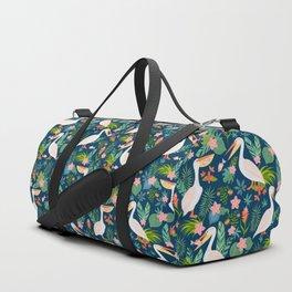 Floral Pelican Duffle Bag