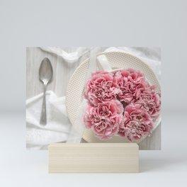 A Cup of Pink Carnations Mini Art Print