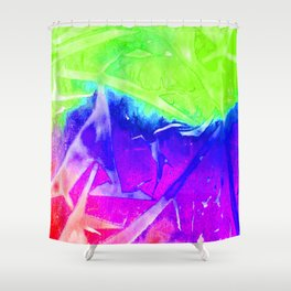 Aurora 3 - Green Sky Shower Curtain