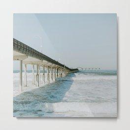 Ocean Beach Boardwalk Metal Print