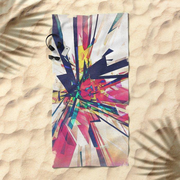 Abstract Geometry Beach Towel
