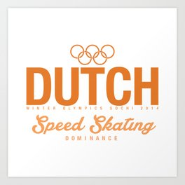 Dutch - Speed Skating Art Print