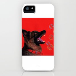 Hating those bubbles - A German Shepherd's rant iPhone Case