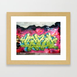 Delicate situation Kane graffiti lettering piece Framed Art Print