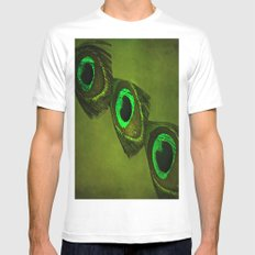 Neon Eyes Mens Fitted Tee White MEDIUM