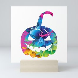 Paranormal Halloween Pumpkin Face Mini Art Print
