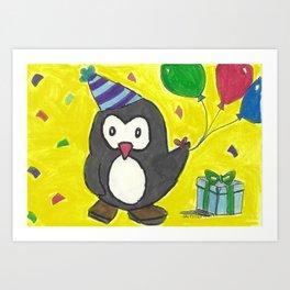 Celebration Owl Art Print