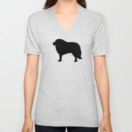 Big Black Dog Unisex V-Neck
