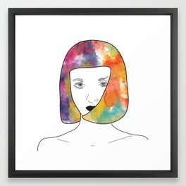 face I Framed Art Print