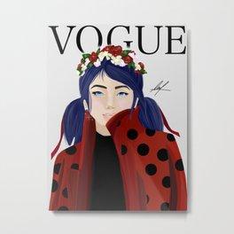 Marinette- Ladybug Metal Print