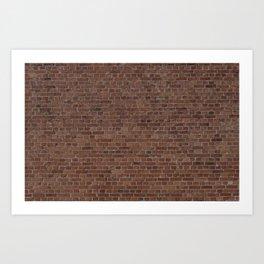 NYC Big Apple Manhattan City Brown Stone Brick Wall Art Print
