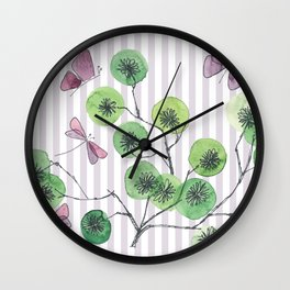 a touch of summer  with stripes Wall Clock