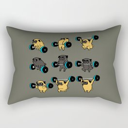 OLYMPIC LIFTING PUG Rectangular Pillow