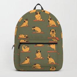 Pug Yoga In Khaki Backpack