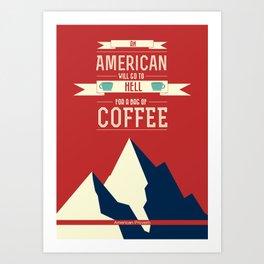 Lab No. 4 - Coffee print art Inspirational Quotes poster Art Print