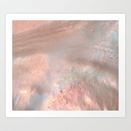 Mother of pearl in rose gold Art Print