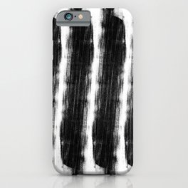 Minimalist Abstract Black and White Lines iPhone Case