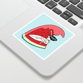 Watermelon Surf Sticker