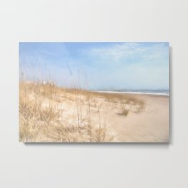 Warm Sand Dunes Metal Print